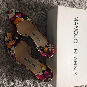 Manikin Blahnik Flower Slides size 36